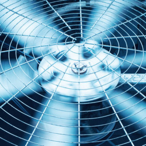 Air conditioner blades spinning